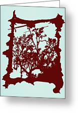 Another Creepy Tree Greeting Card by Kristin Sharpe