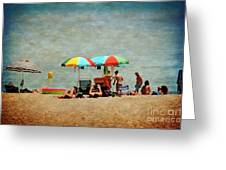 Another Day At The Beach Greeting Card by Mary Machare