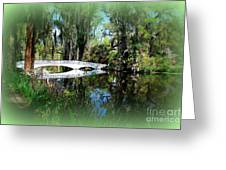 Another White Bridge In Magnolia Gardens Charleston Sc II Greeting Card by Susanne Van Hulst