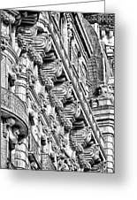 Ansonia Building Detail 10 Greeting Card by Val Black Russian Tourchin