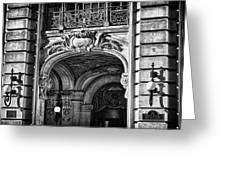 Ansonia Building Detail 4 Greeting Card by Val Black Russian Tourchin