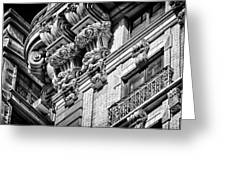 Ansonia Building Detail 45 Greeting Card by Val Black Russian Tourchin