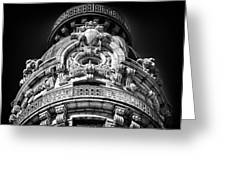 Ansonia Building Detail 48 Greeting Card by Val Black Russian Tourchin