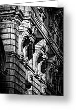 Ansonia Building Detail 9 Greeting Card by Val Black Russian Tourchin