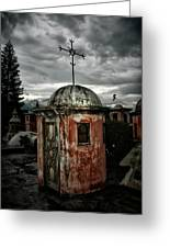 Antigua Stairwell Greeting Card by Tom Bell