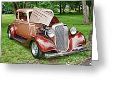 Antique Chevy  7757 Greeting Card by Guy Whiteley