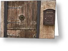 Antique Dutch Door And Mailbox Greeting Card by Will & Deni McIntyre