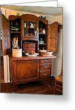 Antique Hoosier Cabinet Greeting Card by Carmen Del Valle