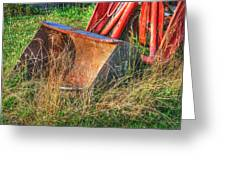 Antique Tractor Bucket Greeting Card by Jennifer Lyon