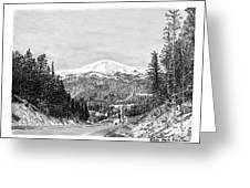 Apache Summit Siera Blanco Greeting Card by Jack Pumphrey