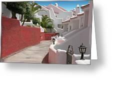 Apartments San Blas Tenerife Greeting Card by Aleck Rich Seddon