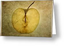 Apple Textured Greeting Card by Bernard Jaubert
