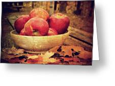 Apples Greeting Card by Kathy Jennings