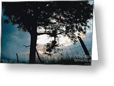 Approaching Storm Greeting Card by Barbara Plattenburg