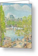 April On The Quai Voltaire In Paris Greeting Card by Childe Hassam