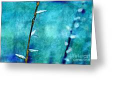Aqua and Indigo Greeting Card by Aimelle
