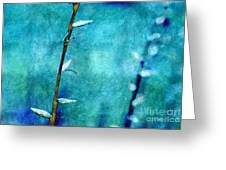 Aqua And Indigo Greeting Card by Aimelle