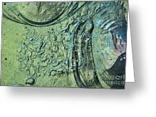 Aqua Stained Glass Greeting Card by Susan Isakson