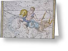 Aquarius And Capricorn Greeting Card by A Jamieson