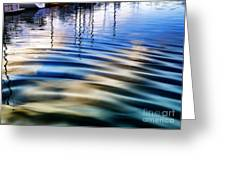 Aquatic Reflections Greeting Card by Mariola Bitner