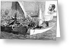 Arab Slave Trade, 1887 Greeting Card by Granger