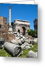 Arch Of Septimius Severus Greeting Card by Gregory Dyer