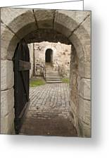 Archway - Entrance To Historic Town Greeting Card by Matthias Hauser