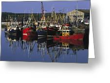 Ardglass, Co Down, Ireland Fishing Greeting Card by The Irish Image Collection