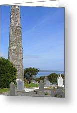 Ardmore Round Tower - Ireland Greeting Card by Mike McGlothlen