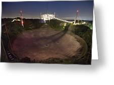 Arecibo Observatory In Puerto Rico Greeting Card by Stephen Alvarez