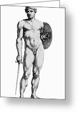 Ares, Greek God Of War Greeting Card by Photo Researchers