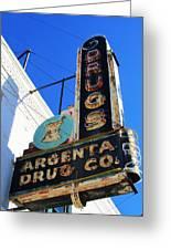 Argenta Drug Co. Greeting Card by Todd Sherlock