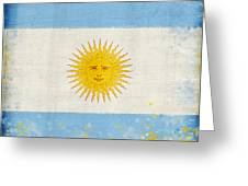 Argentina flag Greeting Card by Setsiri Silapasuwanchai