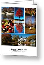 Argyle Lake Fall Poster Greeting Card by Vicki Jauron