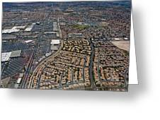 Arial View Of Las Vegas Greeting Card by Susan Stone