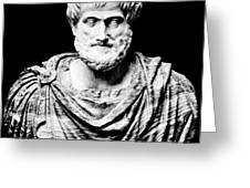 Aristotle, Ancient Greek Philosopher Greeting Card by Omikron