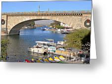 Arizona Import - Iconic London Bridge Greeting Card by Christine Till