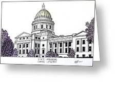 Arkansas State Capitol Greeting Card by Frederic Kohli