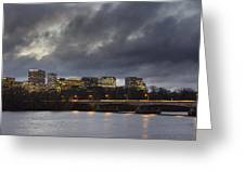 Arlington Virginia From Washington Dc Greeting Card by Brendan Reals