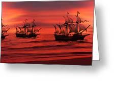 Armada Greeting Card by Lourry Legarde