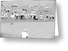 Arnold Palmer Waits At 1964 Us Open At Congressional Country Club Greeting Card by Jan Faul