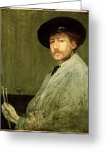 Arrangement In Grey - Portrait Of The Painter Greeting Card by James Abbott McNeill Whistler