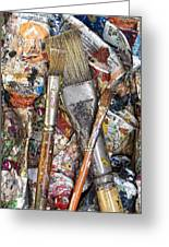 Art Is Messy 4 Greeting Card by Carol Leigh