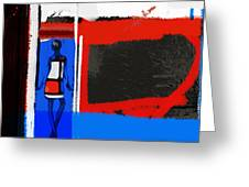 Art Scene Greeting Card by Naxart Studio