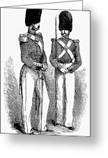 Artillery Company, 1855 Greeting Card by Granger