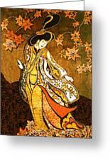 Asian Woman Greeting Card by Alexandra  Sanders