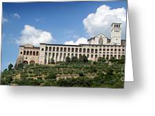 Assisi Italy -  Basilica Of San Francesco D'assisi - 02 Greeting Card by Gregory Dyer