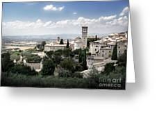 Assisi Italy - Bella Vista - 01 Greeting Card by Gregory Dyer
