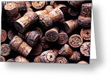Assorted champagne corks Greeting Card by Garry Gay