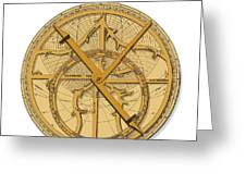 Astrolabe, Historical Artwork Greeting Card by Detlev Van Ravenswaay